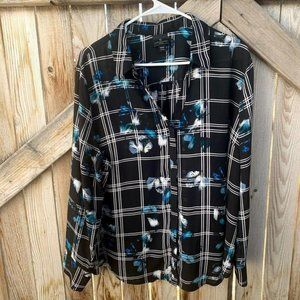 Worthington blouse button up long sleeve collared